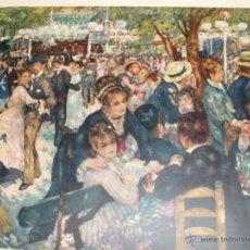 Arte: ANTIGUA LITOGRAFIA SOBRE PLANCHA LE MOULIN DE LA GALETTE. MUSEO DE LOUVRE. GALERIA COSTA BARCELONA.. Lote 54424969