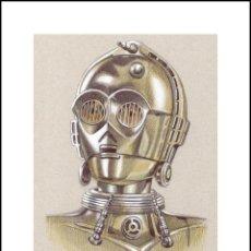 Arte: MINILITOGRAFÍA -C3PO- (STAR WARS). ED. LIMITADA. AUTOR: MIGUEL ALFARO. Lote 178832133