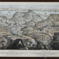 Arte: I1-010. BATALLA DE SEBASTOPOL. LITOGRAFIA EN COLOR SOBRE PAPEL. LONDRES 1855.. Lote 52816099