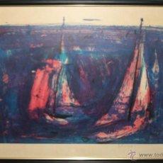 Arte: K3-005 - BARCAS. JEAN-PAUL BRUSSET (1909-1985). LITOGRAFÍA. MEDIADOS SIGLO XX. Lote 47303120
