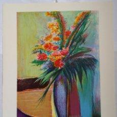 Arte: TORRES: FLEURS / LITOGRAFÍA FIRMADA Y NUMERADA A MANO. Lote 55262534