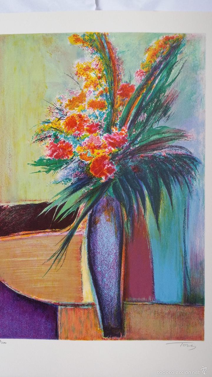 Arte: TORRES: Fleurs / litografía firmada y numerada a mano - Foto 2 - 55262534