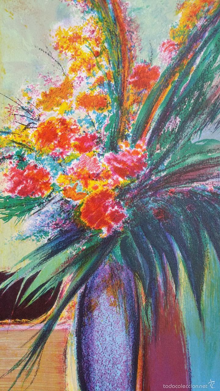 Arte: TORRES: Fleurs / litografía firmada y numerada a mano - Foto 3 - 55262534