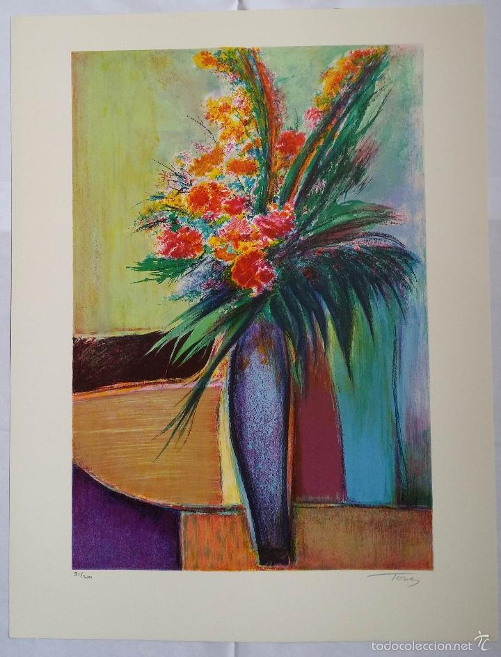 Arte: TORRES: Fleurs / litografía firmada y numerada a mano - Foto 8 - 55262534