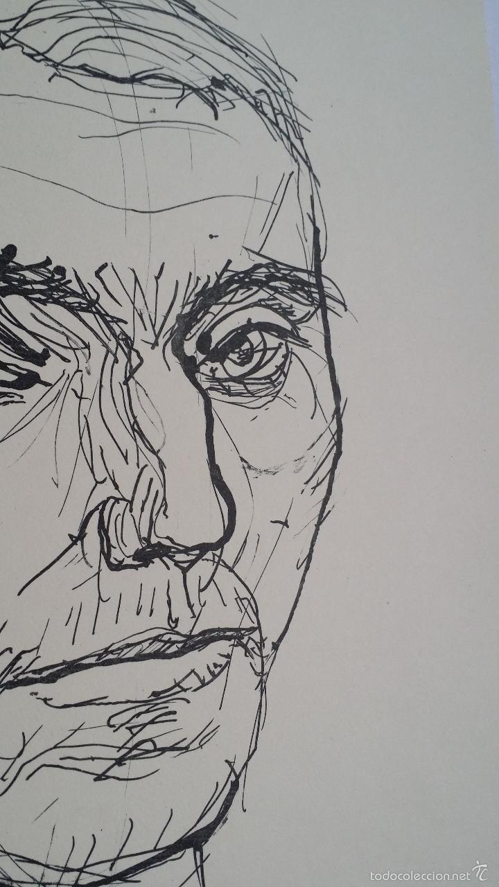 Arte: MAX UHLIG: Retrato, 1962 / litografía justificada y firmada a lápiz - Foto 3 - 55542104