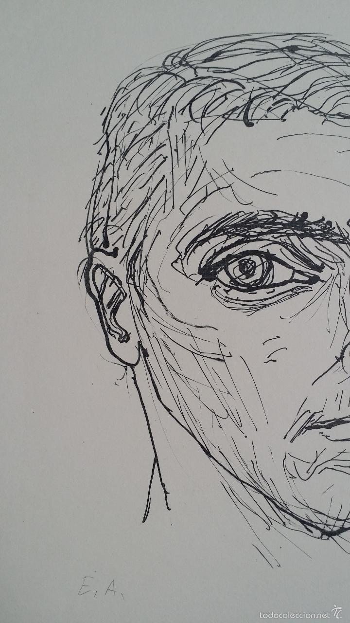 Arte: MAX UHLIG: Retrato, 1962 / litografía justificada y firmada a lápiz - Foto 7 - 55542104