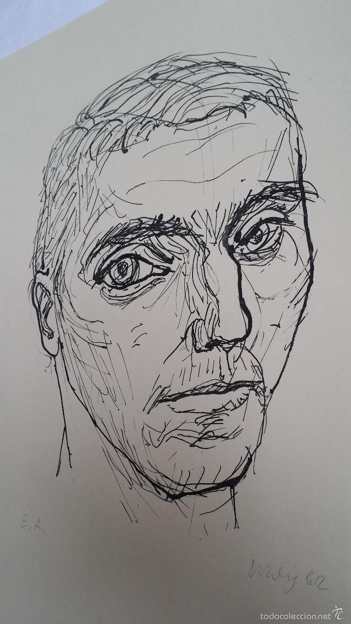 Arte: MAX UHLIG: Retrato, 1962 / litografía justificada y firmada a lápiz - Foto 9 - 55542104