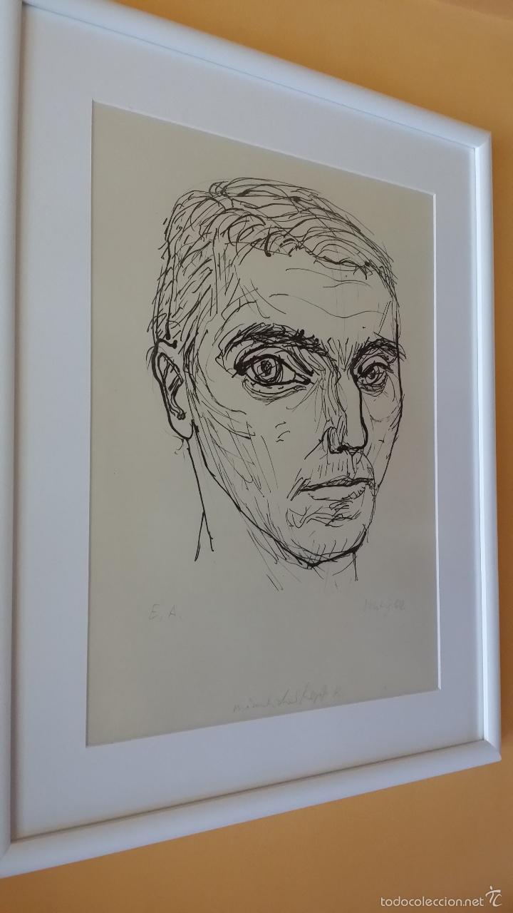 Arte: MAX UHLIG: Retrato, 1962 / litografía justificada y firmada a lápiz - Foto 11 - 55542104