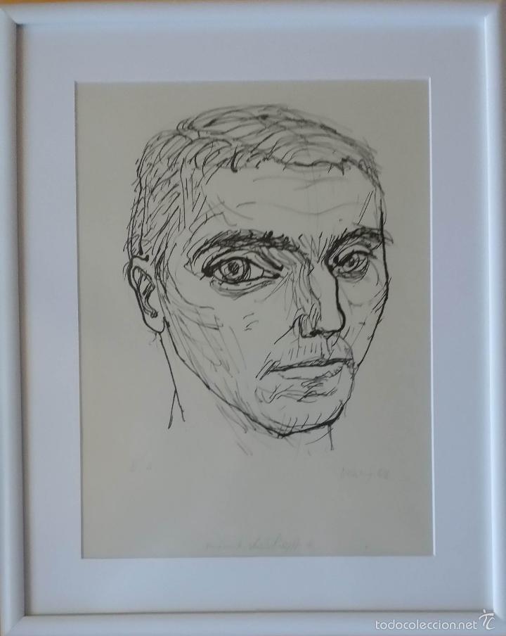 Arte: MAX UHLIG: Retrato, 1962 / litografía justificada y firmada a lápiz - Foto 12 - 55542104
