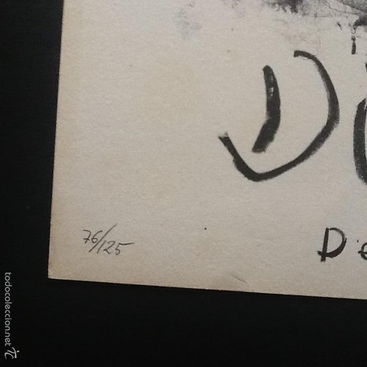 Arte: DIEGO LOPEZ litografía original firmada y númerada 76/125 ejemplares. Galeria Matisse - Foto 2 - 55775905