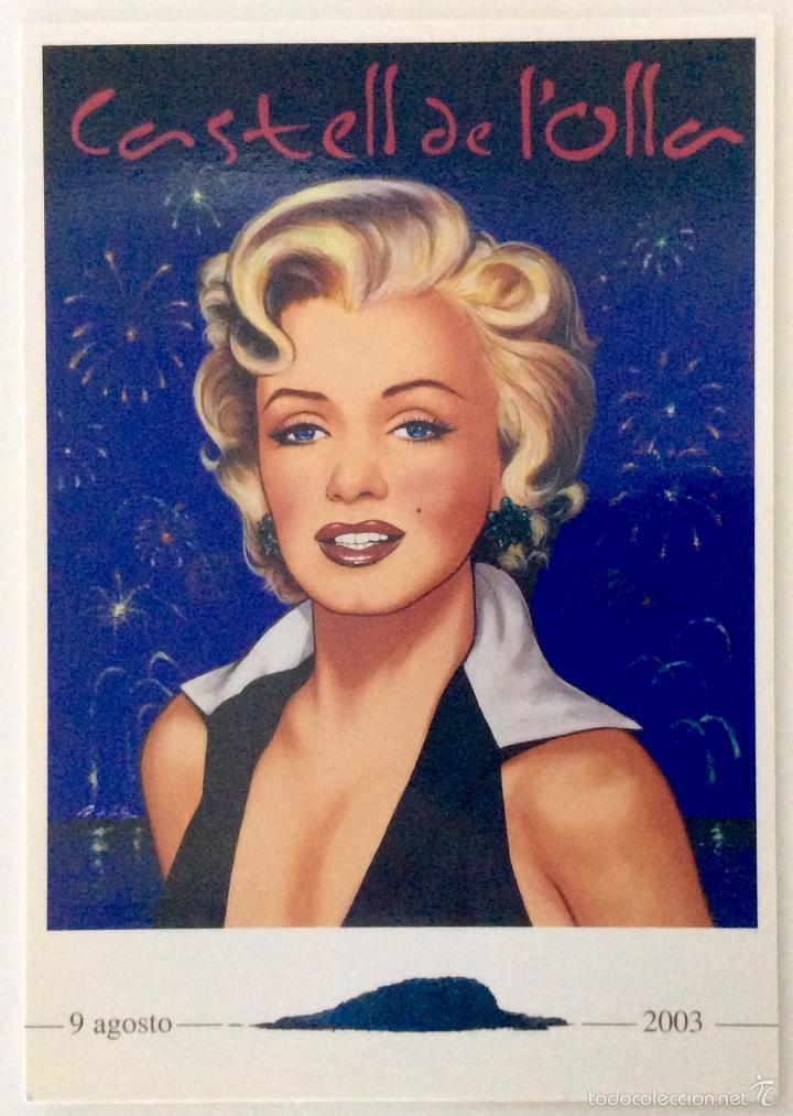 Arte: Envío 4€. litografía postal Y TRÍPTICO, alegoría CASTELL DE LOLLA realizadas por ANTONIO DE FELIPE - Foto 2 - 56161689