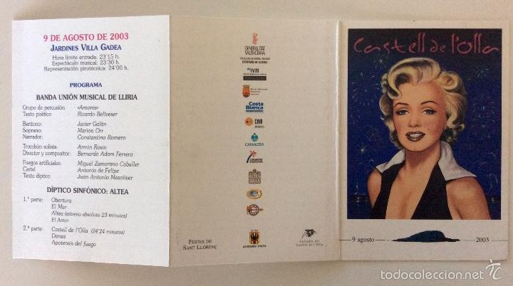 Arte: Envío 4€. litografía postal Y TRÍPTICO, alegoría CASTELL DE LOLLA realizadas por ANTONIO DE FELIPE - Foto 4 - 56161689