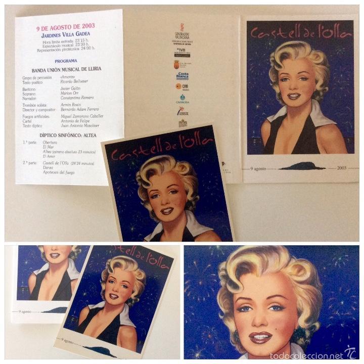 Arte: Envío 4€. litografía postal Y TRÍPTICO, alegoría CASTELL DE LOLLA realizadas por ANTONIO DE FELIPE - Foto 7 - 56161689