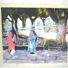 Arte: 66 CM - GRAN LITOGRAFIA FIRMADA Y NUMERADA - GITANAS. Lote 56164400