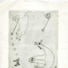 Arte: 2 PEQUEÑOS GRABADOS LITOGRÁFICOS FIRMADOS DE LA ESCULTORA ARLETTE PARVINE CURIE, 1959 Y 1961.. Lote 56168517