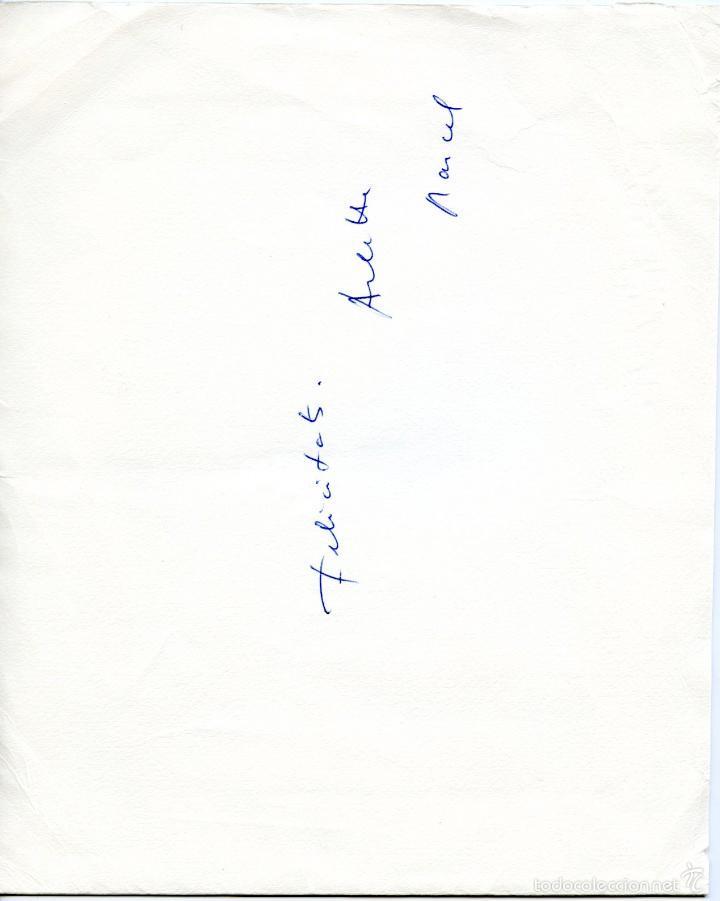 Arte: 2 pequeños grabados litográficos firmados de la escultora Arlette Parvine Curie, 1959 y 1961. - Foto 2 - 56168517