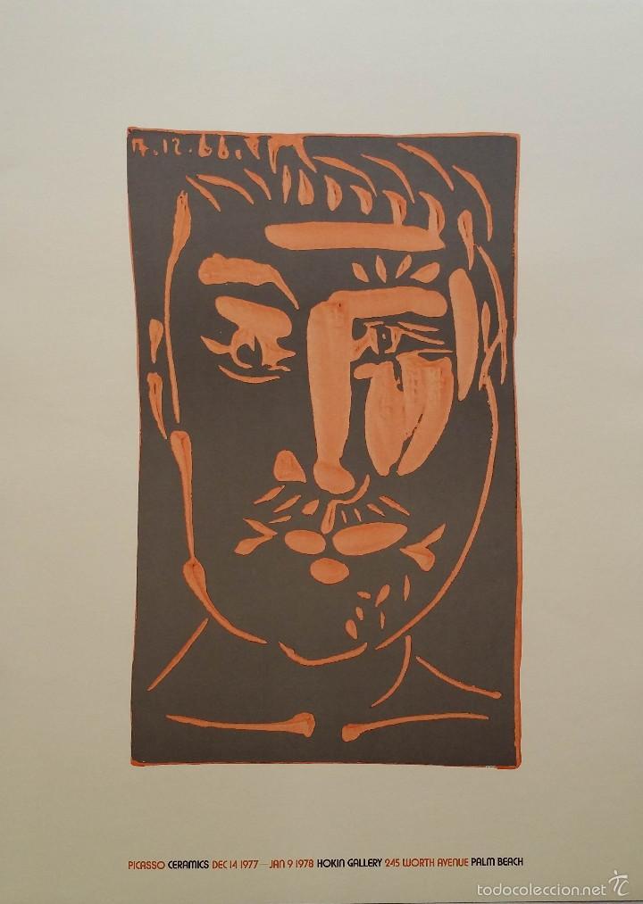 PABLO PICASSO, CERAMICS, CARTEL DE EXPOSICIÓN EN FLORIDA, 1977 (Arte - Litografías)