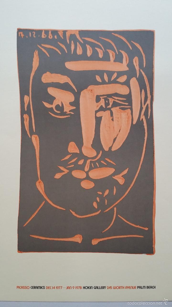 Arte: PABLO PICASSO, Ceramics, cartel de exposición en Florida, 1977 - Foto 2 - 56898326