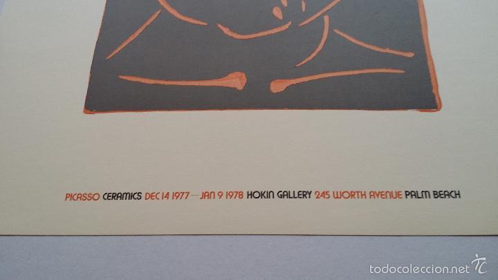 Arte: PABLO PICASSO, Ceramics, cartel de exposición en Florida, 1977 - Foto 4 - 56898326