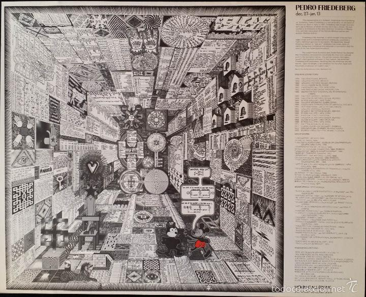 Arte: Pedro Friedeberg: CARTEL Mickey and Felix, Palm Beach, 1974 - Foto 2 - 58459891