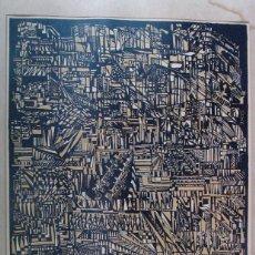 Arte: ANTIGUA LITOGRAFÍA FIRMADA A LAPIZ. ANNE ARVIDSSON. 1968. VINTAGE. Lote 56977092
