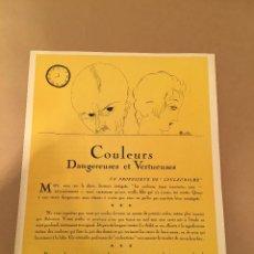 Arte: 1923 - LITOGRAFIA ORIGINAL CON 4 DIBUJOS DE CHARLES MARTIN - ART DECO - BON TON. Lote 57083539