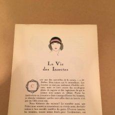 Arte: 1923 - LITOGRAFIA ORIGINAL CON 8 DIBUJOS DE HELEN SMITH (SOMBREROS - HATS - CHAPEAUX) - BON TON. Lote 57083772