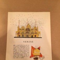 Arte: 1923 - LITOGRAFIA ORIGINAL CON 7 DIBUJOS DE ANDRE EDOUARD MARTY - VENECIA - VENISE - BON TON. Lote 57084192