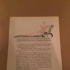 Arte: 1921 - LITOGRAFIA ORIGINAL CON 4 DIBUJOS DE EDOUARD GARCIA BENITO (1891-1981) - BON TON. Lote 57091391