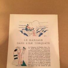 Arte: 1921 - LITOGRAFIA ORIGINAL CON 5 DIBUJOS DE ANDRE EDOUARD MARTY (1882-1974) - MAC ORLAN - BON TON. Lote 57091595