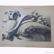 Arte: ANTIGUA LITOGRAFÍA : LE GUIDE DE L'ORNEMANISTE, Nº 18. JULLIEN BERNARD - ROMAIN. 1840. Lote 57108018
