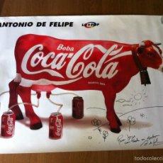 Arte: CARTEL VACA COCA-COLA FIRMADO POR ANTONIO DE FELIPE. Lote 57200388