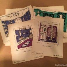 Arte: LUCIE RENAUDOT - 1921 - LITOGRAFIA S ORIGINAL ES - ART DECO - DECORACION - DECORATION - BON TON. Lote 57330106