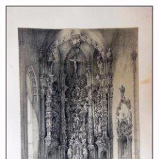 Arte: ALTAR DE LA PARROQUIA DE SAN LESMES EN BURGOS. VILLA AMIL, G P. 1843. ESPAÑA ARTÍSTICA Y MONUMENTAL. Lote 57635197
