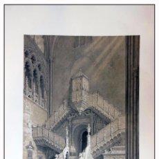 Arte: INTERIOR DE LA ESCALERA DE LA PUERTA ALTA. VILLA AMIL, G P. 1843. ESPAÑA ARTÍSTICA Y MONUMENTAL. Lote 57647645
