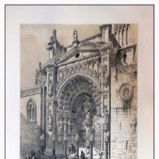 Arte: PUERTA DE LOS LEONES EN LA CATEDRAL DE TOLEDO. VILLA AMIL, G P. 1843. ESPAÑA ARTÍSTICA Y MONUMENTAL. Lote 57648539