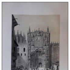 Arte: PORTICO DEL COLEGIO SAN GREGORIO EN VALLADOLID. VILLA AMIL, G P. 1843. ESPAÑA ARTÍSTICA Y MONUMENTAL. Lote 57649422