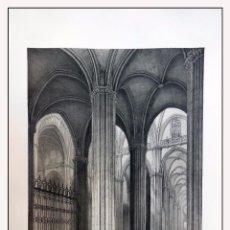 Arte: INTERIOR DE LA NAVE LATERAL CATEDRAL SEVILLA . VILLA AMIL, G P. 1843. ESPAÑA ARTÍSTICA Y MONUMENTAL. Lote 57649593