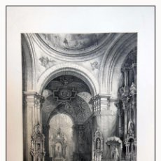 Arte: INTERIOR CAPILLA DE S ISIDRO EN MADRID. VILLA AMIL, G P. 1843. ESPAÑA ARTÍSTICA Y MONUMENTAL. Lote 57656343