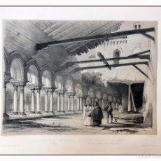 Arte: CLAUSTRILLA DE LAS HUELGAS EN BURGOS. VILLA AMIL, G P. 1843. ESPAÑA ARTÍSTICA Y MONUMENTAL. Lote 57657178