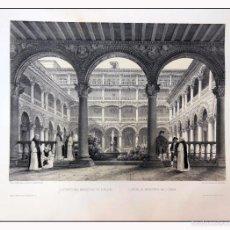 Arte: CLAUSTRO DEL MONASTERIO DE LUPIANA. VILLA AMIL, G P. 1843. ESPAÑA ARTÍSTICA Y MONUMENTAL. Lote 57664810