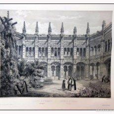 Arte: CLAUSTRO DE STA ENGRACIA EN ZARAGOZA. VILLA AMIL, G P. 1843. ESPAÑA ARTÍSTICA Y MONUMENTAL. Lote 57665100