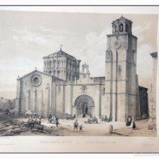 Arte: IGLESIA COLEGIAL DE TORO. VILLA AMIL, G P. 1843. ESPAÑA ARTÍSTICA Y MONUMENTAL. Lote 57665319
