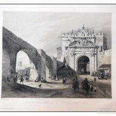 Arte: PUERTA DE CARMONA EN SEVILLA. VILLA AMIL, G P. 1843. ESPAÑA ARTÍSTICA Y MONUMENTAL. Lote 57673967