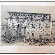Arte: PALACIO DUQUES DEL INFANTADO EN GUADALAJARA. VILLA AMIL, G P. 1843. ESPAÑA ARTÍSTICA Y MONUMENTAL. Lote 57674327