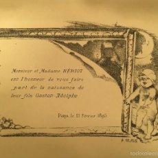 Arte: ART NOUVEAU - ADOLPHE WILLETTE (1857-1926) - LITOGRAFIA - MARCOS - ENMARCACION - 1895 (03). Lote 57762476