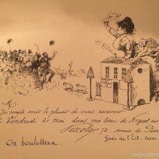 Arte: ART NOUVEAU - LITOGRAFIA - INVITACION - 1895. Lote 57762800