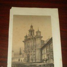 Arte: LITOGRAFÍA DE F. J. PARCERISA. IGLESIA DE S. JUAN DE LETRAN (VALLADOLID). SXIX. Lote 57763543