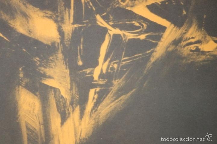 Arte: I3-041. ABSTRACTO. LITOGRAFIA SOBRE PAPEL. FIRMADO Y DEDICADO. VIOLA. SIGLO XX. - Foto 2 - 57767453