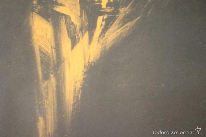 Arte: I3-041. ABSTRACTO. LITOGRAFIA SOBRE PAPEL. FIRMADO Y DEDICADO. VIOLA. SIGLO XX. - Foto 3 - 57767453